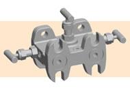 Kerotest KMM4A 3-valve mini-manifold