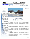M&M Control, Industry Newsletter 1st Issue, March 2014