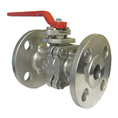 Full Port Stainless Steel Ball Valve, 2-piece Flanged